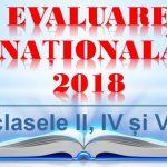 Calendarul de administrare a Evaluărilor Naționale la finalul claselor II, IV și VI pentru anul școlar 2017-2018